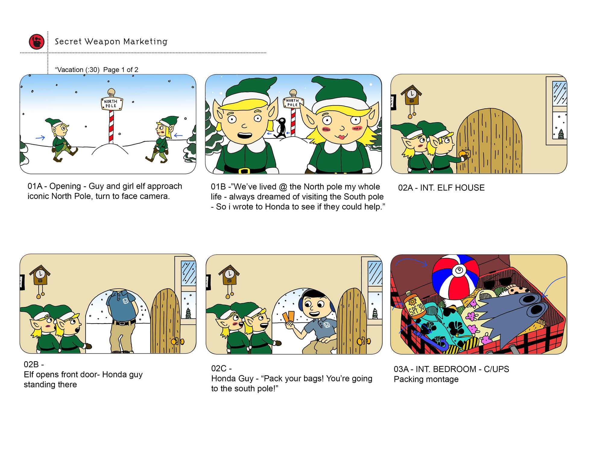 Visual Storyboards | Storyboards Color Keys Ben Chapin Visual Art