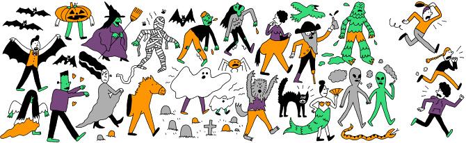 Halloween Parade - Jordan Awan Illustration